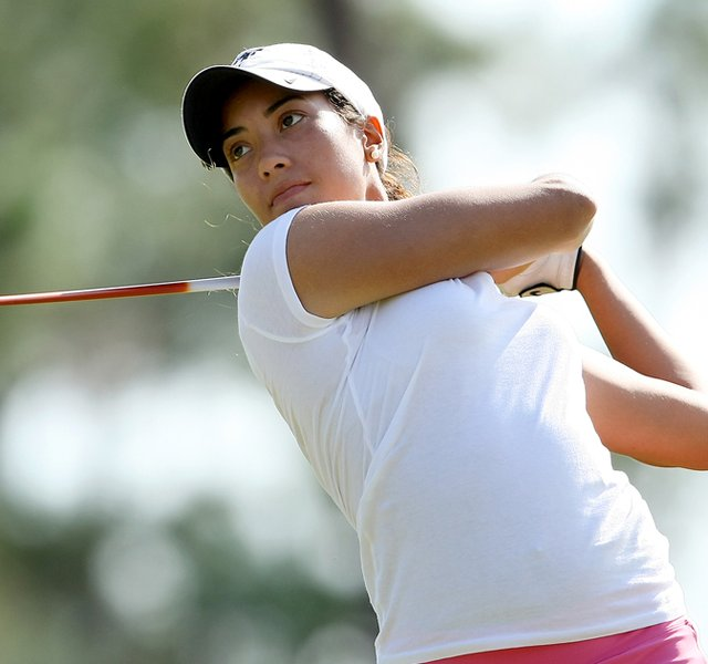 Cheyenne Woods during the Harder Hall, a women's amateur event in Sebring, Fla.