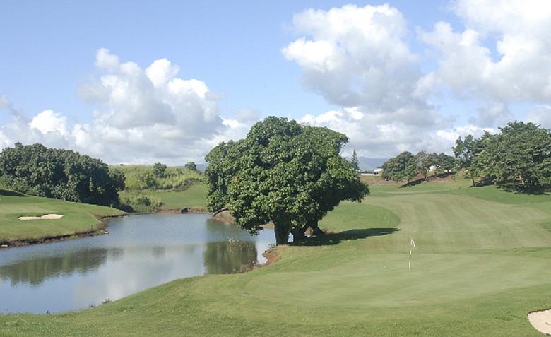 The par-4 12th at Puakea Golf Course.