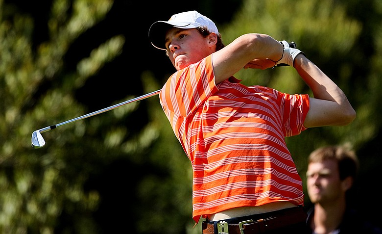 Thomas Pieters of Illinois during the final round of stroke play at the 2012 NCAA Championship.