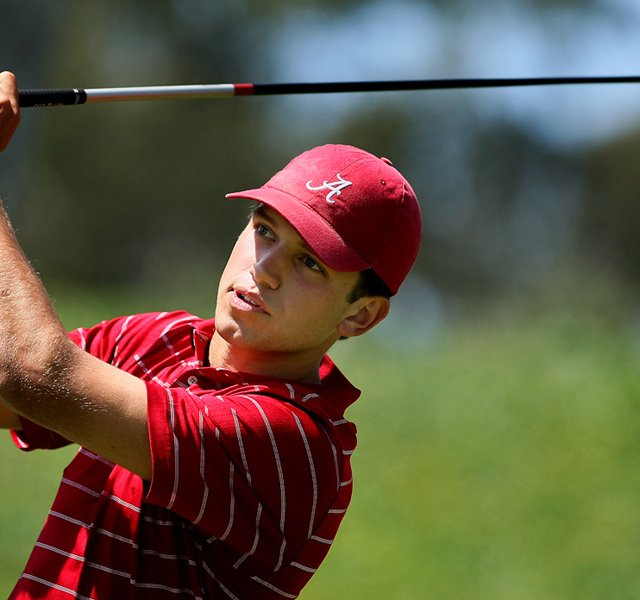 Alabama&#39;s Cory Whitsett at No. 3 during the final round of stroke play at the 2012 NCAA Championship.