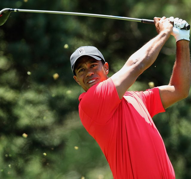 Tiger Woods hits his tee shot on the second hole during the final round of the Memorial Tournament presented by Nationwide Insurance at Muirfield Village Golf Club on June 3, 2012 in Dublin, Ohio.