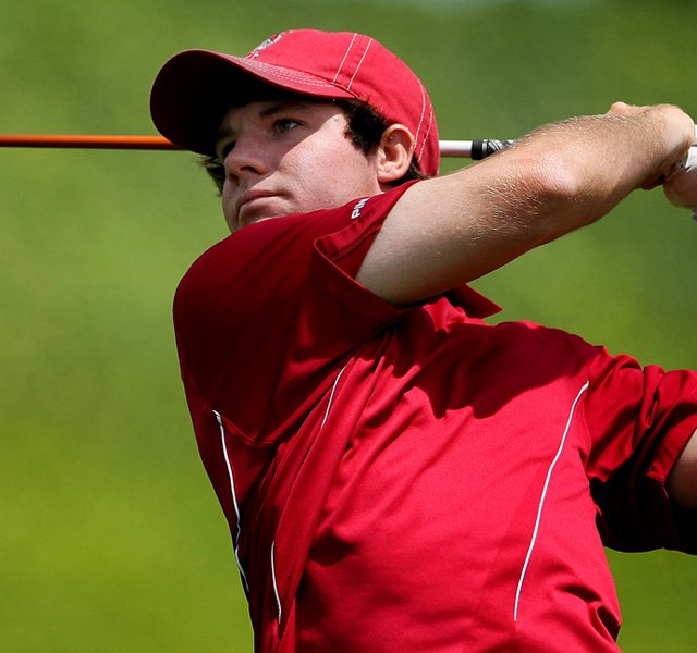 Alabama's Hunter Hamrick during the finals of match play at the 2012 NCAA Championship at Riviera Country.