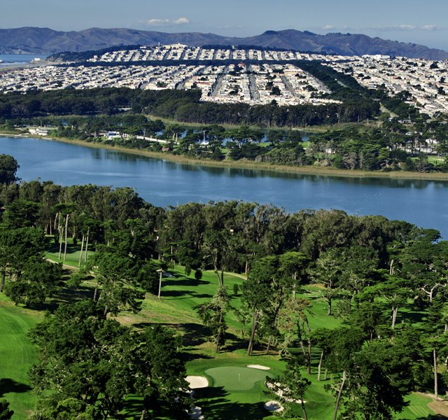 The third hole of The Olympic Club&#39;s Lake Course in San Francisco, Calif. as seen on Tuesday, Nov. 8, 2011. 