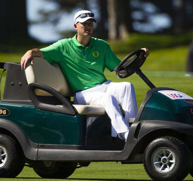 Casey Martin had to use a cart at the 1998 U.S. Open at Olympic Club in San Francisco, initially using a one-man cart that couldn't hold up with the rough terrain.