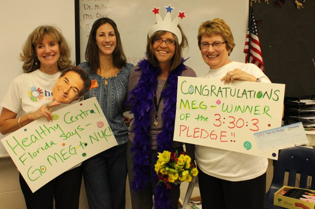 Winter Park teacher Meg Pietkiewicz won a trip to a live taping of The Dr. Oz Show.