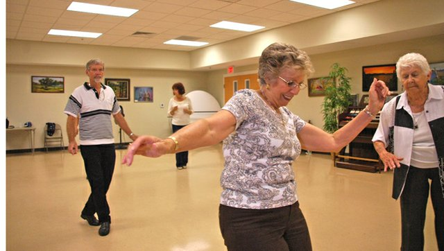 Seniors dance up a storm at the Winter Springs Senior Center.