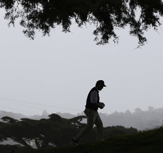 Mark McCormick walks off the second hole during the first round of the U.S. Open at The Olympic Club.