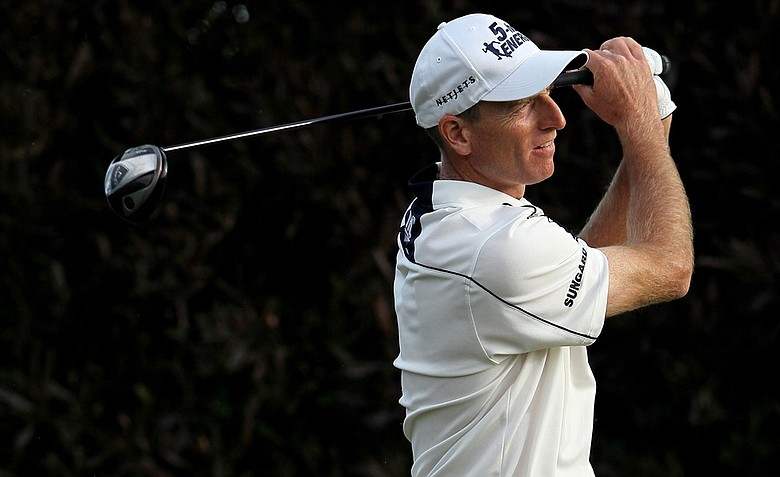 Jim Furyk tees off with Graeme McDowell at 3:10 p.m. PDT on Sunday.