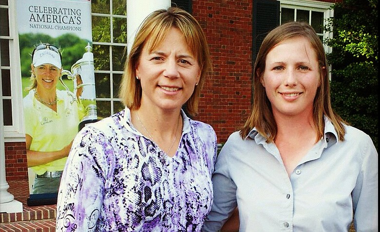 Kelsey Chugg (right) with Annika Sorenstam.