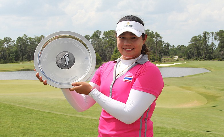 Ariya Jutanugarn, winner of the 2012 AJGA Rolex Girls Invitational.