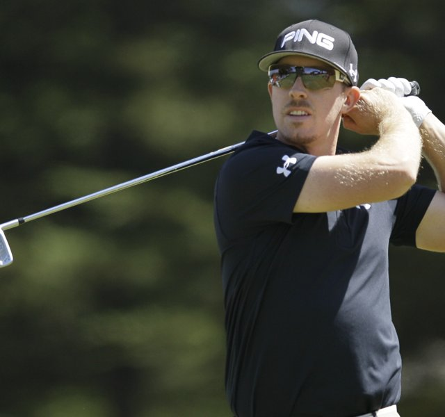 Hunter Mahan during the U.S. Open.