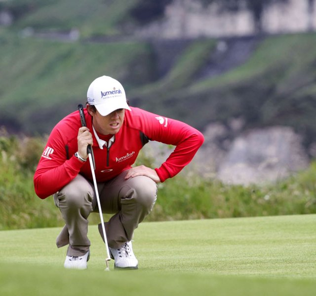 Rory McIlroy, Irish Open golf tournament 2012 at Royal Portrush GC.