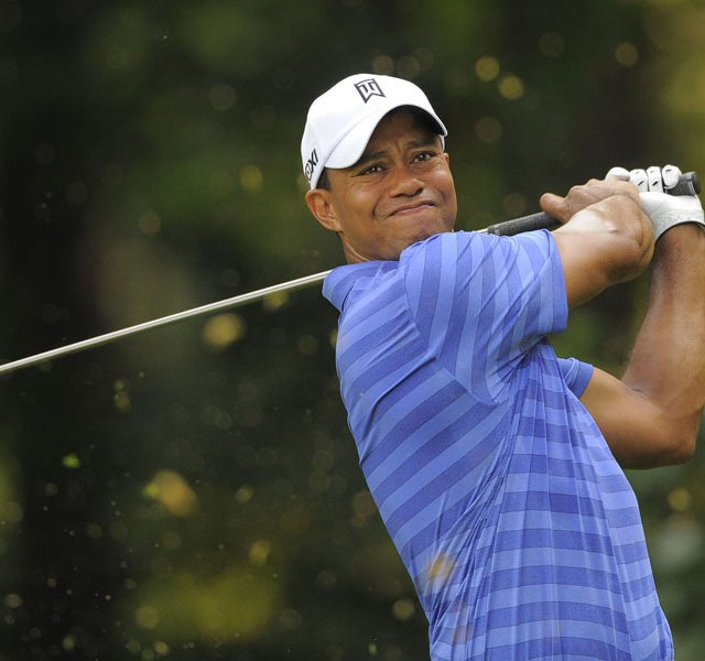 Tiger Woods during the second round of the AT&T National at Congressional Country Club.