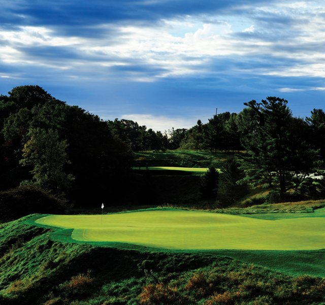 The sixth hole of Blackwolf Run Golf Course as seen on Sunday, September 19, 2010 in Kohler, Wis.