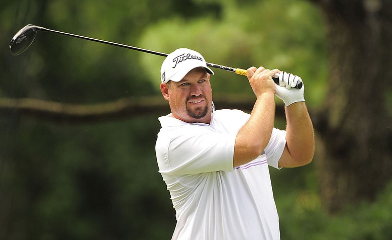 Brendon de Jonge during the third round of the AT&T National.