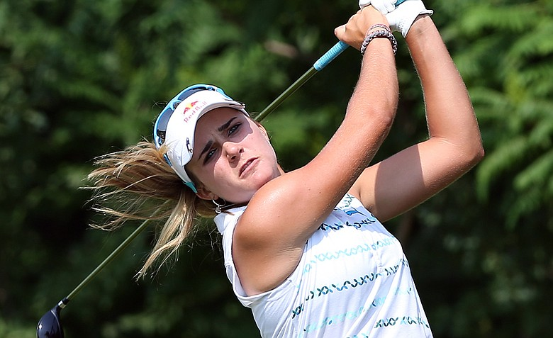 Lexi Thompson tees off on No. 14 during the second round of the 2012 U.S. Women's Open.