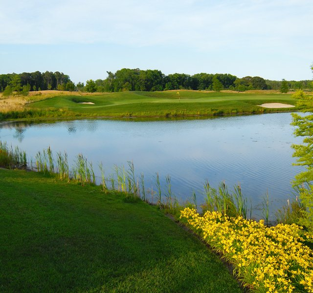 The 17th hole at the Bayside Resort Golf Club in Dewey Beach, Del.