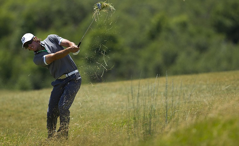 James Erkenbeck during second-round play at the U.S. Amateur Public Links at Solider Hollow Golf Club in Midway, Utah.