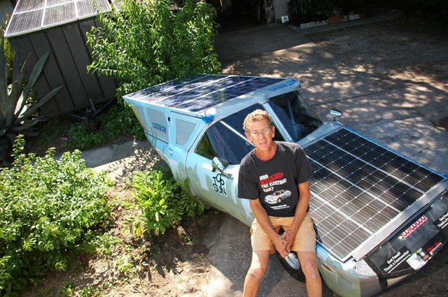 Larry Wexler built his own solar-powered car, among other sun-powered inventions.