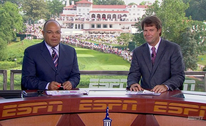 ESPN's Mike Tirico and Paul Azinger