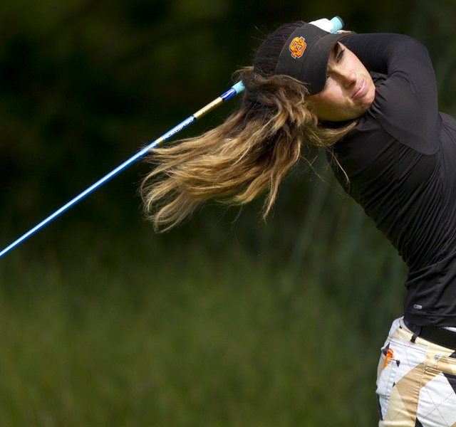 Casie Cathrea fired a course-record, 6-under 66 at Lake Merced in the second round at the U.S. Girls' Junior on Tuesday.