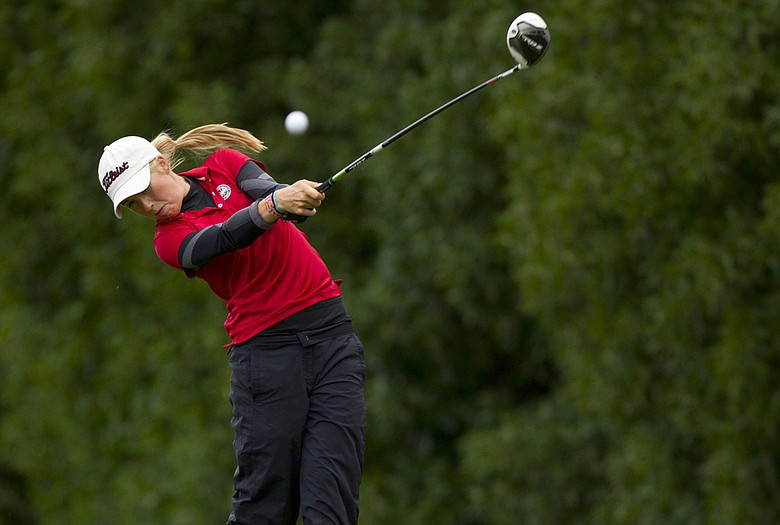 Casey Danielson won the final five holes of her first-round match to advance to the Round of 32 at the U.S. Girls' Junior.