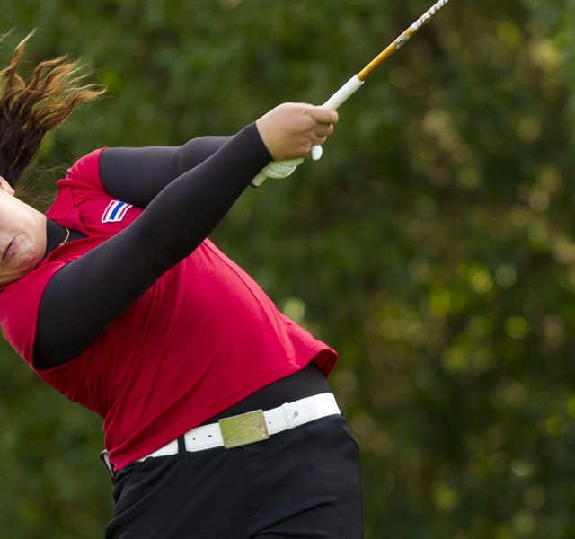 Ariya Jutanugarn defeated Casie Cathrea, 3 and 1, in the quarterfinals at the U.S. Girls&#39; Junior.