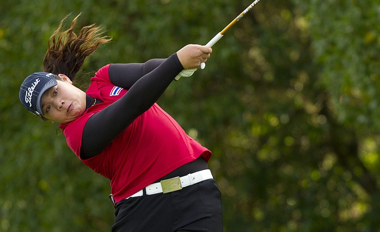 Ariya Jutanugarn defeated Casie Cathrea, 3 and 1, in the quarterfinals at the U.S. Girls' Junior.
