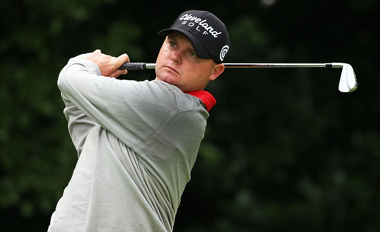 Ted Potter, Jr. hits his tee shot on the first hole during the first round of the 141st Open Championship at Royal Lytham & St. Annes Golf Club.