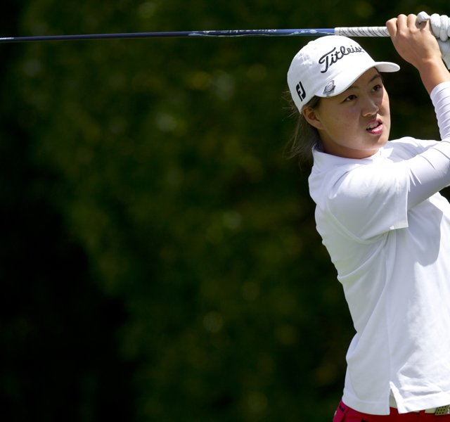 Minjee Lee has a 1-up advantage through 18 holes of the U.S. Girls&#39; Junior final against Alison Lee.