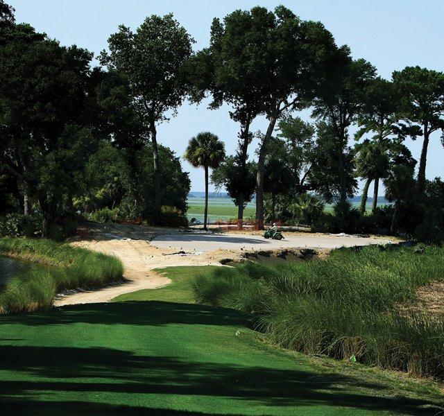 Hole No. 17 during renovations at Old Tabby Links on Spring Island in South Carolina.