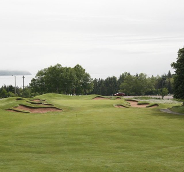 The restored 15th hole at Highlands Links.