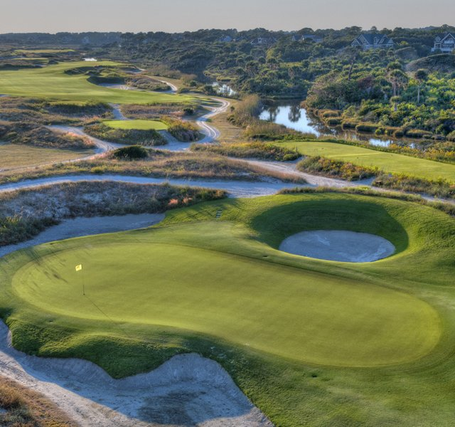 The 10th hole at Kiawah Island&#39;s Ocean Course.