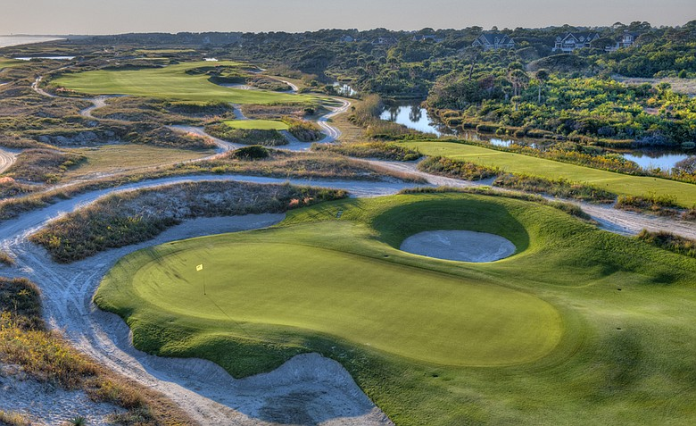 The 10th hole at Kiawah Island's Ocean Course.