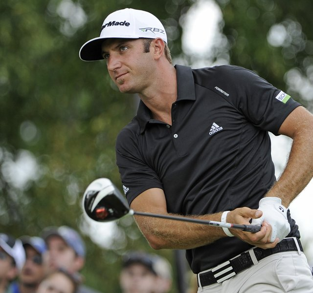 Dustin Johnson will be paired with Rory McIlroy and Jim Furyk in the first two rounds at the PGA Championship.