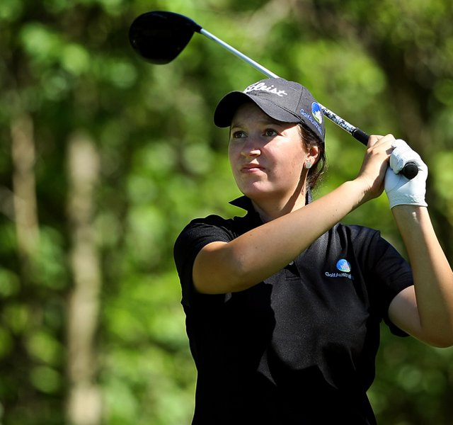 Breanna Elliott of Australia during the second round of stroke play at the 2012 U. S. Women&#39;s Amateur Championship at The Country Club in Cleveland. She&#39;s a member of the Australian National Squad.