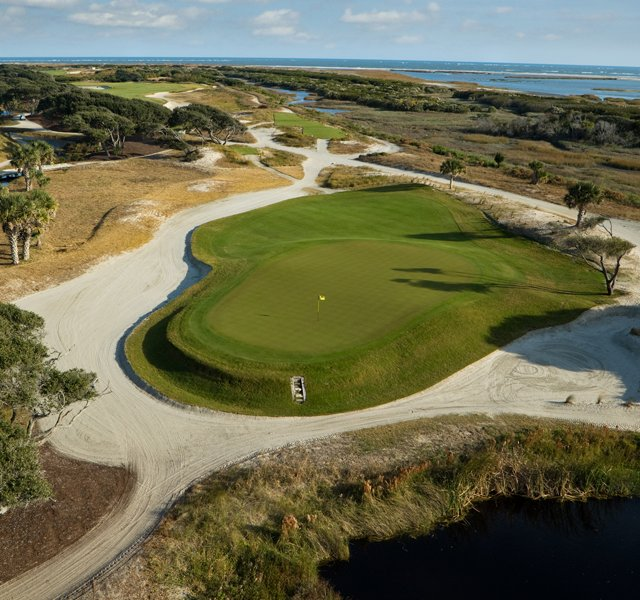 The 8th hole at Kiawah Island's Ocean Course.