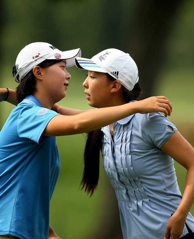 Hyo-Joo Kim was defeated by Nicole Zhang 1 up during the Round of 16 at the 112th U. S. Women&#39;s Amateur Championship. 