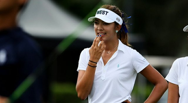 Alison Lee during the Wyndham Cup.