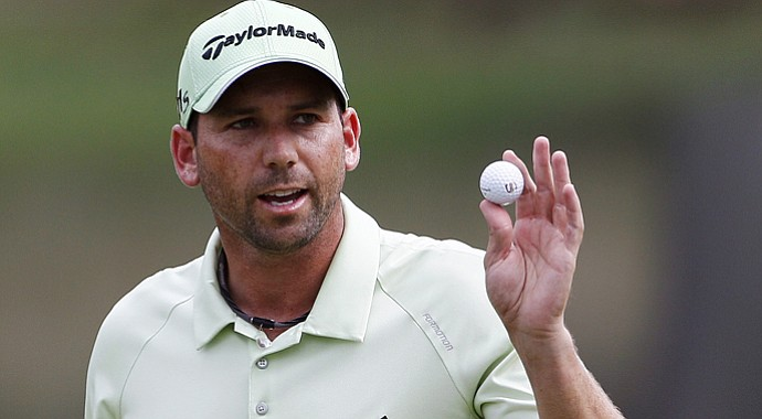 Sergio Garcia leads the Wyndham Championship after three rounds.
