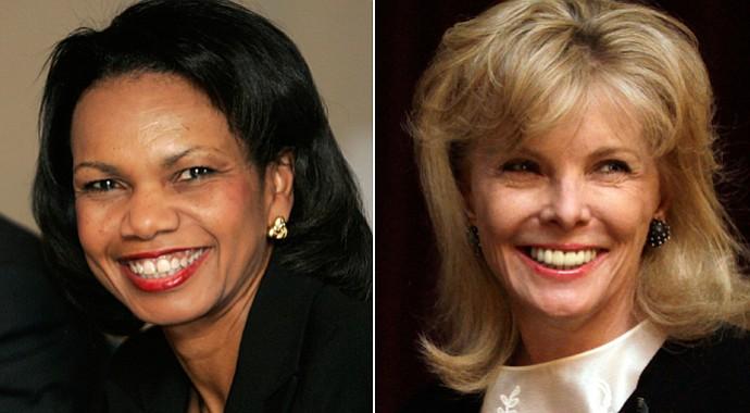 Former Secretary of State Condoleezza Rice (left) and South Carolina financier Darla Moore
