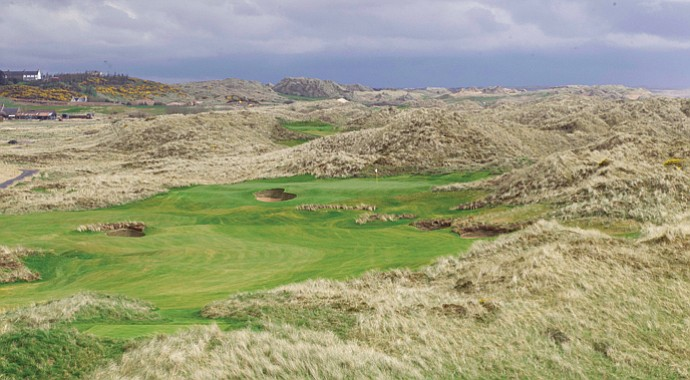 Donald Trump's golf course at Menie near Aberdeen in Scotland.