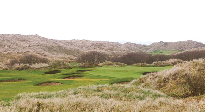 The par-5 18th hole