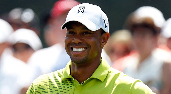 Tiger Woods during the third round of the Barclays.