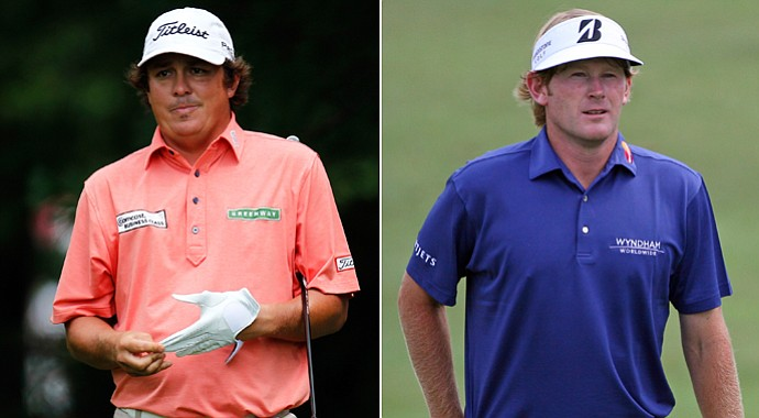 Jason Dufner (left) and Brandt Snedeker