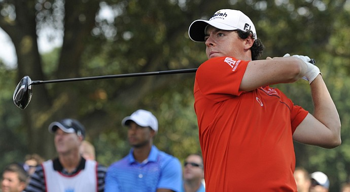 Rory McIlroy using the 913 driver at the Barclays.