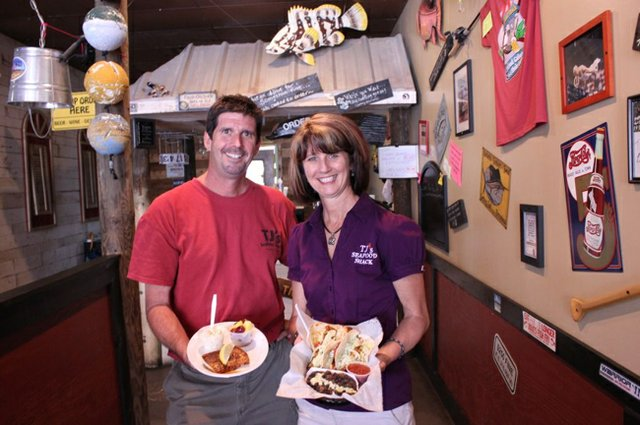 TJ's Seafood Shack owners Tim Shepardson and Mary Strickland hope the growing Oviedo on the Park development will bring more foot traffic to their original location while they look to expand to a second.