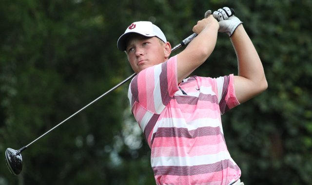 Brad Dalke during the second round of the Junior Players Championship.