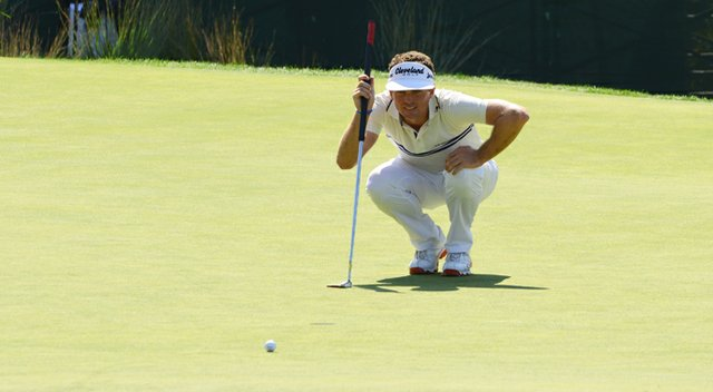 Keegan Bradley, after making the cut on the number, fired an 8-under 63 to vault into contention.