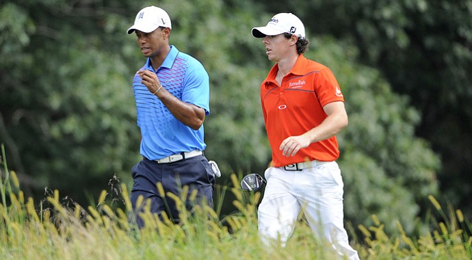 Tiger Woods and Rory McIlroy are Nos. 2 and 1, respectively, in the FedEx Cup standings.
